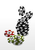 Poker chips — Stockvector