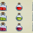 Bottles of potion — Imagen vectorial