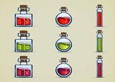 Bottles of potion — Stock Vector