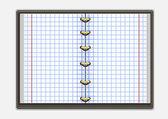 тетрадь с клетками — Cтоковый вектор
