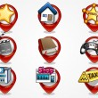 Royalty-Free Stock Vector Image: Detailed navigation icons set 1