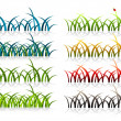 Royalty-Free Stock Vector Image: Many grass