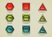 9 つのカラフルな異なる石 — ストックベクタ