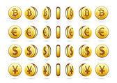 Rotational coins — Stock Vector