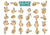 Comics hands — Vettoriale Stock