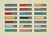 Retro game bars — Stock Vector