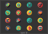 Medical flat icons — Vector de stock
