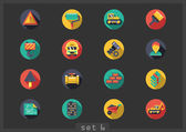 Construction flat icons — Vector de stock