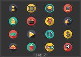 Movie flat icons — Stock Vector