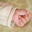 Stock Photo: Baby little hand gripping