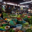 Panoramic of market in Siem Reap — Stock Photo