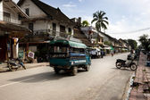 Street in laos — Stock Photo