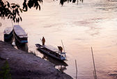 Dusk in mekong river — Stock Photo