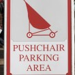 Pushchair parking area sign. — Stock Photo