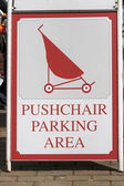 Pushchair parking area sign. — Stok fotoğraf