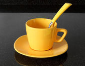 The yellow cup — Stock Photo