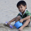 Asiboy playing sand — Stock Photo #34820821