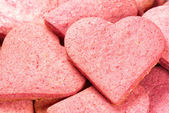 Heart-shaped cookies — Stock Photo