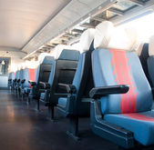 Modern train interior — Stock Photo