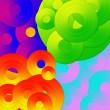 Psychedelic circles background — Stock Photo