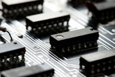 Abstract printed circuit board — Stock Photo