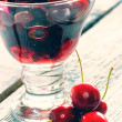 Delicious sweet cherry smoothie — Stockfoto