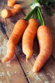 Fresh carrots close-up — Stock Photo