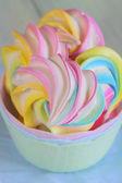 Colored meringues — Stock Photo