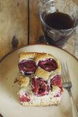 Homemade plum cake — Stock Photo