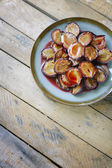 Roasted plums. — Stock Photo
