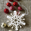 Christmas snowflake ornament — Stockfoto