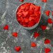 Red sugar hearts — Stock Photo
