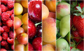 Healthy fruit collage — Stock Photo