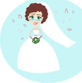 Krásná nevěsta — Stock vektor