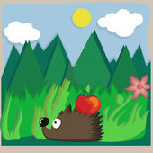 Hedgehog — Vector de stock