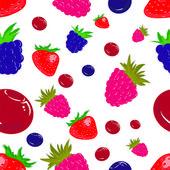 Seamless texture. Berry mix. Vector illustration — Stock Vector