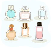 Set of a perfume bottle — Stock Vector