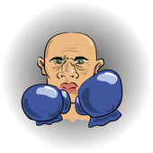 Angry boxer — Stock Vector