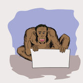 красочные иллюстрации для вашего дизайна с неандертальца — Cтоковый вектор