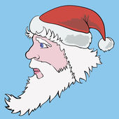 Colorful picture with santa claus — Stock Photo