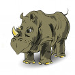 Large rhino - Stock Photo