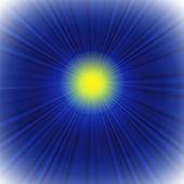 Fond bleu avec le soleil — Photo