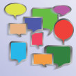 Speech bubbles — Stock Vector #23538205