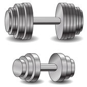 Two dumbells — Stock Photo