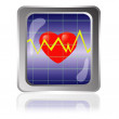Stock Vector: Cardiogram icon