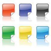 Ensemble d'autocollants colorés — Vecteur