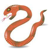 Czerwony wąż — Wektor stockowy