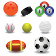 Stock Vector: Set of balls