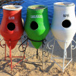 Colorful Recycle Trashcans — Stock Photo