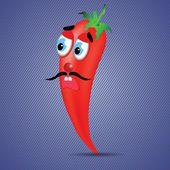 Red pepper — Cтоковый вектор